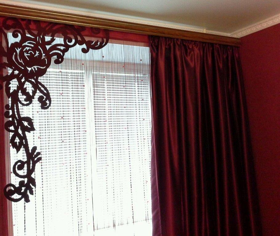 Ажурный ламбрекен под цвет штор