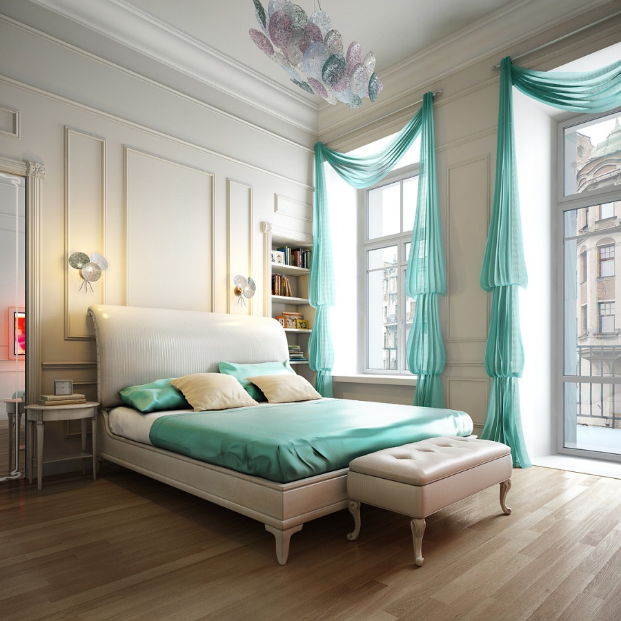 charismatic-design-modern-bedroom-with-curtains-homeincast