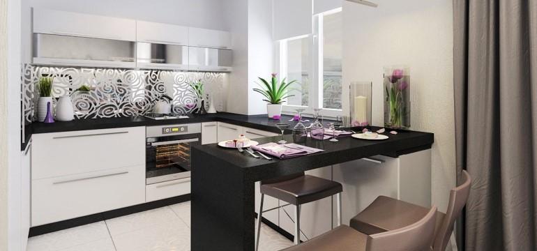 фото угловые кухонные гарнитуры с барной стойкой угловые кухни с